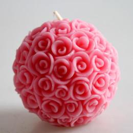 Palla Fiore Rosa candela profumata candela candele amore romantico accessori per la casa a lume di candela Cena Decorazione regali di nozze di San Valentino festa in Offerta