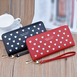 $enCountryForm.capitalKeyWord NZ - Women Ladies Girls Fashion Bling Heart Clutch Wallets Long Handbag Office Bags womens wallets and purses purse women