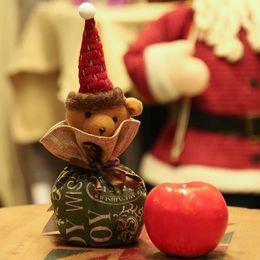 $enCountryForm.capitalKeyWord Australia - Christmas Gift Bag for Kids Candy Festival Storage Bag 2019 New Year Santa Claus Cartoon Pattern Snowflake Handmade Gift Holder