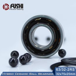 $enCountryForm.capitalKeyWord Australia - 63 32 Hybrid Ceramic Bearing 32*75*20 mm ( 1PC ) Race Bike Front Rear Wheel 63 32 2RS LUU Hybrids Si3N4 Ball Bearings 63 32RS