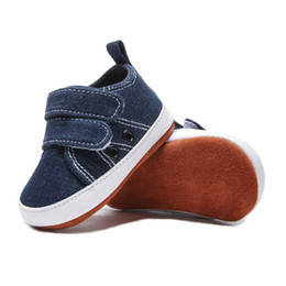 Baby Canvas Shoe Wholesale Australia - Casual Baby Boys Canvas Soft Sole Sneakers Anti-slip Sneakers Infant Casual Shoes