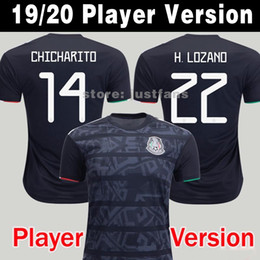 Wholesale Player Version Mexico Soccer Jersey National Gold Cup Home Black CHICHARITO LOZANO GUARDADO CARLOS VELA RAUL Football Shirts
