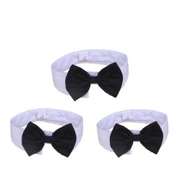 Wholesale Formal Pet Bow Tie Holliday Wedding Dog Collar Dog Clothing Costume Accessories Black yellow for Small Medium Cats Dogs Pets