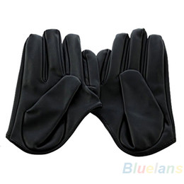 Leather Gloves Sexy Men Australia - NEW Sexy and The City Faux Leather Women's Five Finger Half Palm Gloves 5 Colors Leopard 0J5J 957T