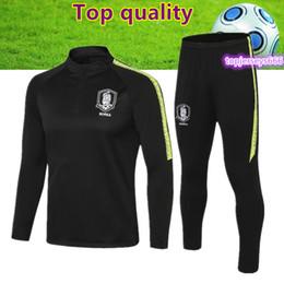 Korea suit man online shopping - Top quality Korea soccer tracksuit jacket korea son football training suit survetement foot jogging