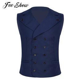 $enCountryForm.capitalKeyWord Australia - New Arrival Dress Vests For Men Slim Fit Casual Mens Suit Vest Male Sleeveless Double Breasted Formal Business Dress Waistcoat