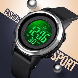 white mens digital watches Australia - SKMEI 1594 Men Digital Watch Brand Men's Watches Waterproof Chronograph Sport Wrist watch Mens Bracelet Alarm Clock Male