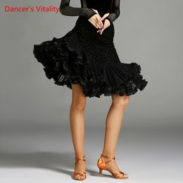 Women latin dance costumes online shopping - Dancer s Vitality New Arrival Latin Dance Competition Skirt Wave Edge Cupcake Dress For Salsa Samba Tango Latin Costume Dress