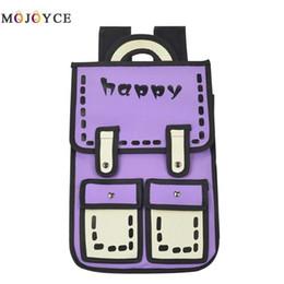 Cartoon Backpack Style Australia - 3d Jump Style 2d Drawing Cartoon Preppy Style Knapsack Travel Bag Women Backpack Teenager School Backpack
