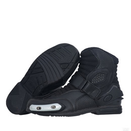 Moto Shoes UK - Motorcycle Boots Motocross Men Moto Riding Boots Shoes Motorcycle Protection Breathable Motorbike Boots