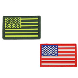 american backpacks Australia - American Flag Red Green 3D PVC Epoxy Armband US Military Tactical Force Morale Badge Clothing Hat Backpack Decoration Patch