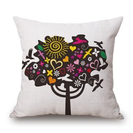 $enCountryForm.capitalKeyWord NZ - Cotton Personality Cartoon Tree Pillow Life Tree Back Cushion Come Picture Customized