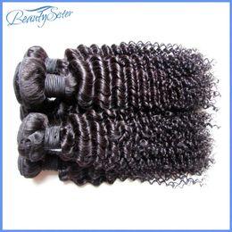 Curly hair perming online shopping - cheap brazilian kinky curly human hair extensions weaves bundles kg bundles natural black color a grade gbundle