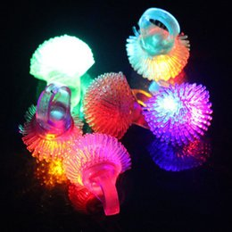 $enCountryForm.capitalKeyWord Australia - LED Finger Light Toys Flashing Colorful Soft Jelly Led Finger Ring Glow in the dark Toys for Party Festival Xmas Halloween SH190911