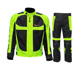 $enCountryForm.capitalKeyWord Australia - Riding tribe summer winter Motorcycle breathable mesh Moto protective Jacket men's Reflective Racing moto jackets Jersey pants