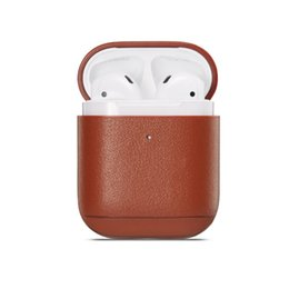 $enCountryForm.capitalKeyWord UK - Mytoto colours Leather case For Apple Airpods 1 2 Wireless Bluetooth Headset Accessories Box Charging Earphone Bags
