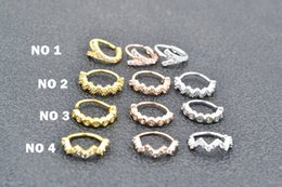 $enCountryForm.capitalKeyWord NZ - 50pcs Body Jewelry Piercing - Nose Ear Ring Ear Helix Daith Cartilage Tragus Earring Nose Septum Ring Bend CZ Gens Shine NEW