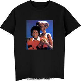$enCountryForm.capitalKeyWord Australia - Michael Jackson & E.T T Shirt Shirts Tee Vintage Retro Thriller Men High Quality Tees Top Tee T-Shirt Harajuku Streetwear