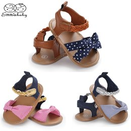 moccasin casual shoes baby Australia - Emmababy New Toddler Infant Girl Newborn Baby Bow-Knot Shoes Summer Cloth Moccasin Shoes Prewalker Bow Casual 0-18M