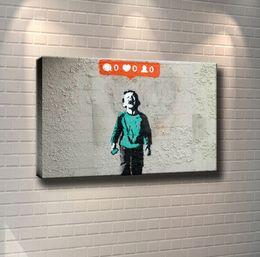 $enCountryForm.capitalKeyWord Australia - (Unframed Framed) A Boy Is Crying for Social Media,1 Pieces Canvas Prints Wall Art Oil Painting Home Decor 24X36.