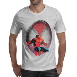 f0a28f087 SpiderMan comics face illustration Man Tees Tops Comfortable Running Cotton  Short Sleeve Shirts Man Funny T Shirt Casual T Shirts for Man
