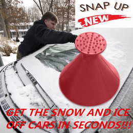 2019 auto parabrezza rimozione neve magia all'aperto ghiaccio ghiaccio pala da cono a forma di imbuto a forma di neve snow tool raschiare strumenti auto raschietto di ghiaccio in Offerta