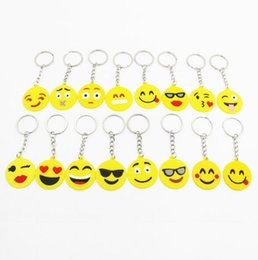 Silicone Toys Australia - 16 Styles Emoji Necklace Toy Props Hot and Classic Gift Emoji QQ Keychain Cute Pendant Animation Accessories