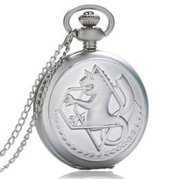 $enCountryForm.capitalKeyWord Australia - Metal Alchemist Dull Polish Theme Watch Quartz Fob Pendant Clock Gifts Steampunk Pocket Chain Pocket Watches for Men Metal Alchemist Dull