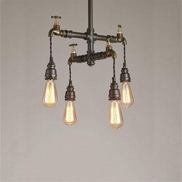 $enCountryForm.capitalKeyWord UK - Loft Vintage Pendant Lights Water Pipe Chandeliers Edison Retro Steampunk Metal Interior Lighting for Restaurant Coffee Room Bar