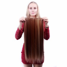 Chinese  Synthetic Wigs 25*60cm European American Five-clip Five-pin Long Straight Hair Wigs Seamless manufacturers