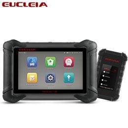 Auto Ecu Connectors Australia - EUCLEIA S8 Auto Tools Professional Full System Car Diagnostics OBD 2 Scanner Manufacturer Coding J2534 PDU 908P ECU Programmer