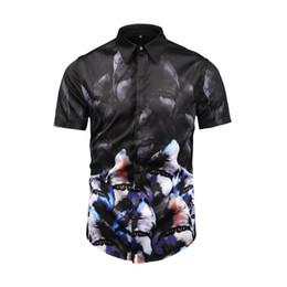 Patchwork designs for dresses online shopping - Envmenst Spring Newest Design Chinese Tradition Mask Printed Slim Shirt For Men Casual Dress Men s Retro Business Shirt