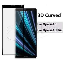 Screen protector anti glare xperia online shopping - NEW D Curved Glass For Sony Xperia10 PLUS Xperia xperia1 plus Premiun D Full Cover Tempered Glass Phone Screen Protector