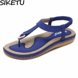 $enCountryForm.capitalKeyWord Australia - Siketu Summer Shoes Women Bohemia Ethnic Flip Flops Soft Flat Sandals Woman Casual Comfortable Plus Size Wedge Sandals 35-45 Y19070503