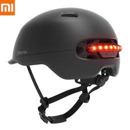Men Cycling Helmets Australia - Original Xiaomi Smart4u SH50 Cycling Bicycle Helmet Intelligent Men Women kids Bike Helmet Back LED Light For Bike Scooter