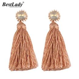 $enCountryForm.capitalKeyWord Australia - Lady Multicolor Fringed Fashion Statement Earrings For Women Vintage Big Tassel Jewelry Charm Bijoux Dangle Drop Earrings