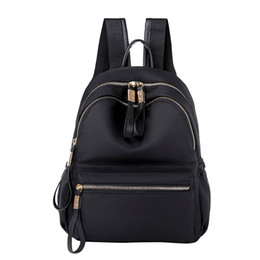 Discount couple school bag - MUQGEW Fashion Female backpack Nylon Solid Color Capacity school bag Student Backpack Travel Couple Women's bag Moc