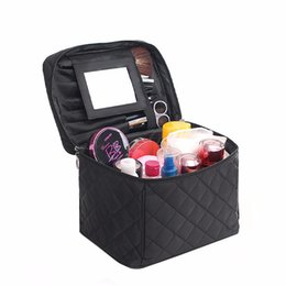 Large Cosmetic Bags Cases UK - Beautician Necessaire Large Cosmetic Bag Cases Organizer Beauty Vanity Makeup Box Bag Travel Toiletry Wash Pouch For Women Men J190614