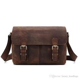 Genuine Leather Handbag Cowhide Shoulder Bag Australia - Bags Men s Shoulder Cowhide Leather Backpack More Pocket Top Quality Purse Designer Handbags Portable Genuine Leather Travel Bags