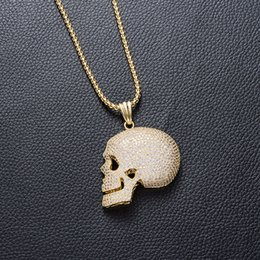 skeleton accessories Australia - Hip Hop Jewelry Rap Human Skeleton Modeling Micro Pendant Inlaid Cz Rap Hip-hop Necklace Man Accessories