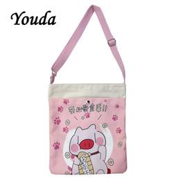 $enCountryForm.capitalKeyWord Australia - Youda Spring New Korean Ladies Canvas Diagonal Bag Cute Girl Shoulder Bags Pink Casual Slung Shopping Tote Portable Handbag