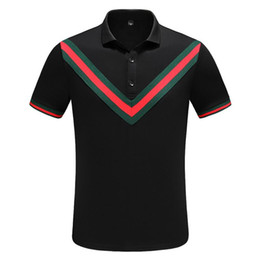 bamboo polo UK - Best Designer Mens Polo Shirts Summer Luxury Polo Mens Shirt Loose Breathable Letter Print Fashion Casual Style Brand Shirt M-3XL