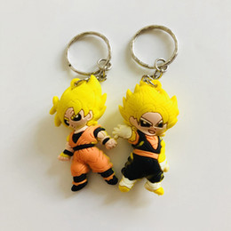 Chinese  Japan anime Dragon Ball PVC Keychain Son Goku 3D stylish creative cartoon brelok do kluczy Car Bags pendant Keyring Jewelry toys manufacturers