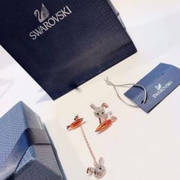 Discount white gold rabbit pendants - Excellent Best The new women's glamour fashion wild full of diamonds classic super cute little white rabbit carrot