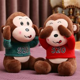 Stuffed Animal Monkey Toy Australia - 20170619 Hot Sale 30cm Cute Monkey Plush Toy Stuffed Animal Kind Doll Children Brithday Halloween Gift