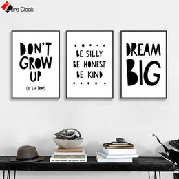$enCountryForm.capitalKeyWord Australia - Cartoon Canvas Painting Nursery Print Inspiration Quotes Poster Black and White Wall Art Decoration Pictures Playroom Wall Decor