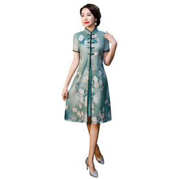 864b1beec Shanghai Story 2019 Top Quality Chinese Traditional Clothes Qipao Chinese  cheongsam dress modern cheongsam with Dress Coat 2 pieces Set
