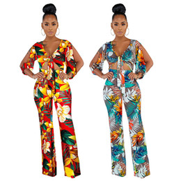 Wholesale sexy pants wide leg jumpsuit for sale – dress Sexy Deep V neck Jumpsuit Women Hollow Out Sleeve Wide Leg Mesh Jumpsuit Pants Club Sexy Casual Loose Floral Playsuit Party Fashion Rompers