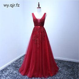 wine bridesmaid dresses long Australia - HJZY03#Plus size Wine Red Grey Pink Lace Long Bridesmaid Dresses Wedding Pary Dress Gown Prom Wholesale Fashion Women