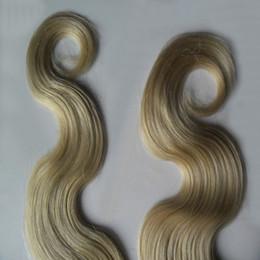 26 Platinum Blonde Human Hair Extensions Australia - Platinum Blonde Color Brazilian Virgin Body Wave Hair Weave 100% Human Hair Weave 10-30 Inchs Skin Weft Hair Extensions